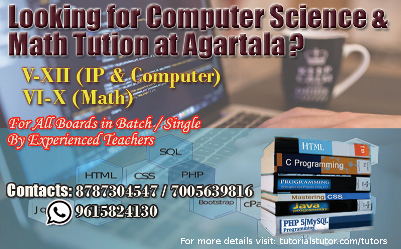 Computer Science Tuition at Agartala